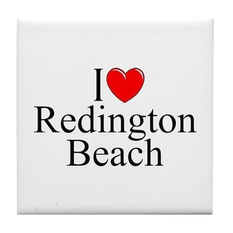 """I Love Redington Beach"" Tile Coaster"
