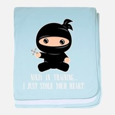 Cute Geek baby baby blanket