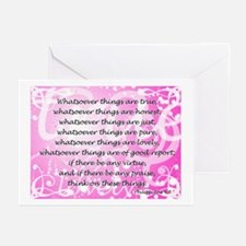 Whatsoever (pink) Greeting Cards (Pk of 10)