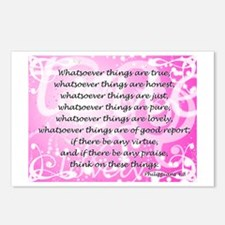 Whatsoever (pink) Postcards (Package of 8)