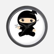 Cute Baby ninja Wall Clock