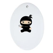 Cute Baby ninja Ornament (Oval)