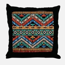 Vintage Aztec Pattern Throw Pillow