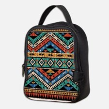 Vintage Aztec Pattern Neoprene Lunch Bag