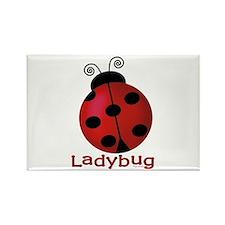 Cute Ladybug Rectangle Magnet