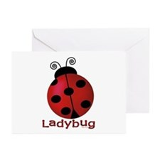 Cute Ladybug Greeting Cards (Pk of 10)