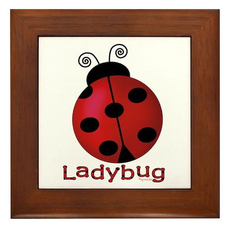 Cute Ladybug Framed Tile