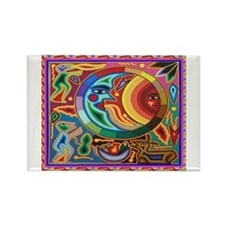 Mexican_String_Art_Image_Sun_Moon_12 12 Magnets