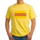 South vietnam Mens Yellow T-shirts