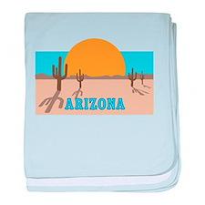 Arizona desert scene baby blanket