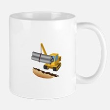Construction Equipment Lifting Pipes Mugs
