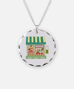 Vegetable Fruits Store Grocery Necklace