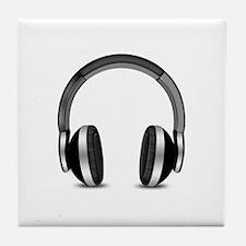 Earmuffs Earphone Headphone Tile Coaster