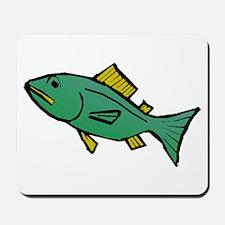 Green Fish Mousepad