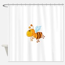Bumblebee Bee Insect Shower Curtain