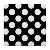 Polka dot Tile Coasters