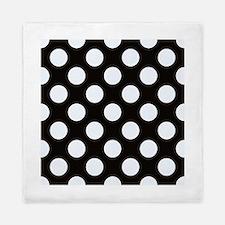 Black and white polkadots Queen Duvet