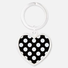 Black and white polkadots Keychains