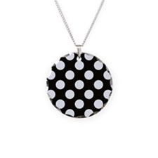 Black and white polkadots Necklace