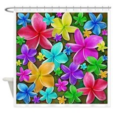 Plumerias Flowers Dream Shower Curtain