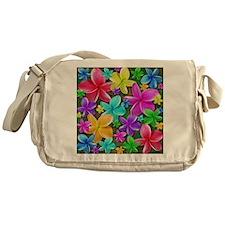 Plumerias Flowers Dream Messenger Bag