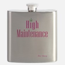 High Maintenance (Pink) Flask