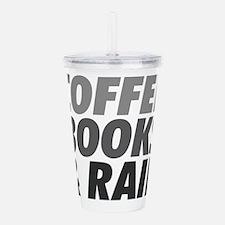 Coffee Books Rain Acrylic Double-Wall Tumbler