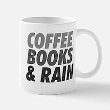 Coffee Books Rain Mug Mugs