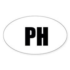 Pine Hills Sticker (oval)