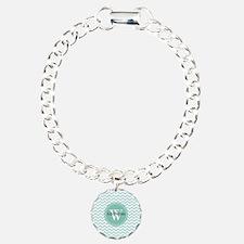 Modern Light Aqua Chevro Bracelet