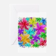 Plumerias Flowers Dream Greeting Cards
