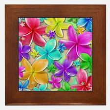 Plumerias Flowers Dream Framed Tile