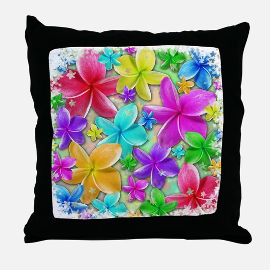 Plumerias Flowers Dream Throw Pillow