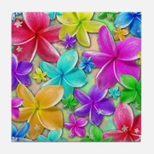 Plumerias Flowers Dream Tile Coaster