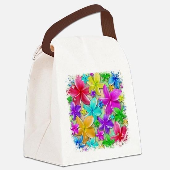Plumerias Flowers Dream Canvas Lunch Bag