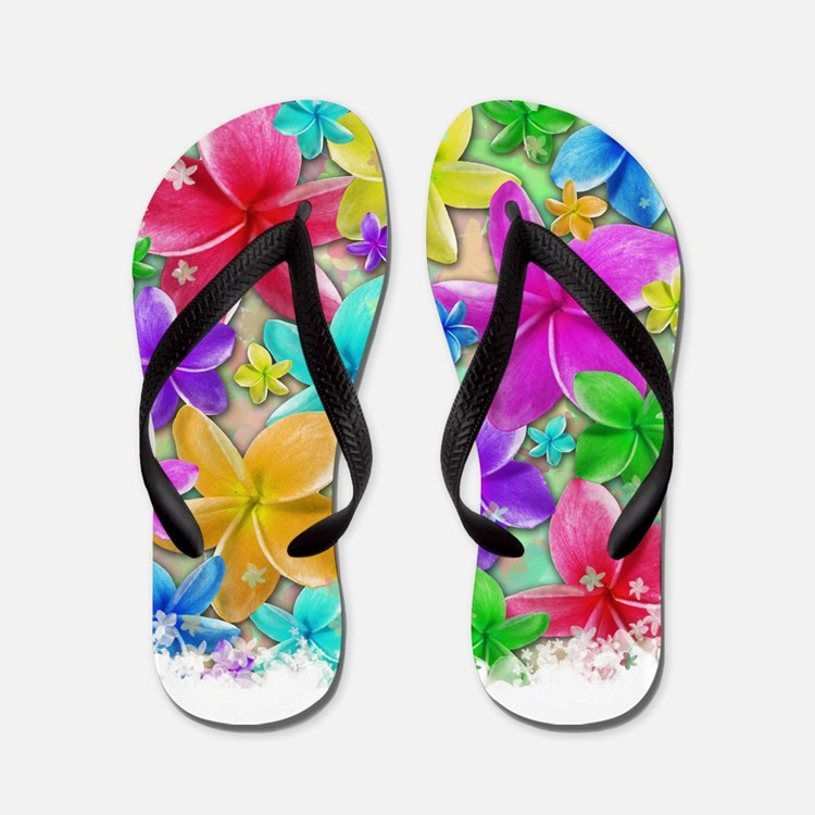 Plumerias Flowers Dream Flip Flops