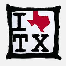 I heart Texas TX Throw Pillow