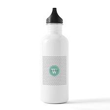 Gray and Aqua Modern C Water Bottle