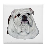 Proud English Bulldog Tile Coaster