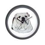 Proud English Bulldog Wall Clock
