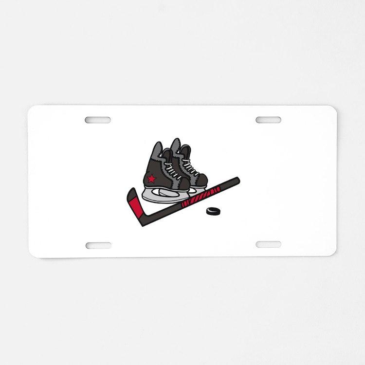 Hockey Skates Aluminum License Plate