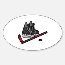 Hockey Skates Decal