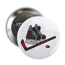 "Hockey Skates 2.25"" Button"