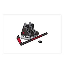 Hockey Skates Postcards (Package of 8)