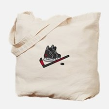Hockey Skates Tote Bag