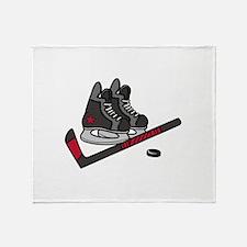 Hockey Skates Throw Blanket