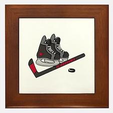 Hockey Skates Framed Tile