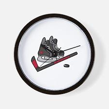Hockey Skates Wall Clock