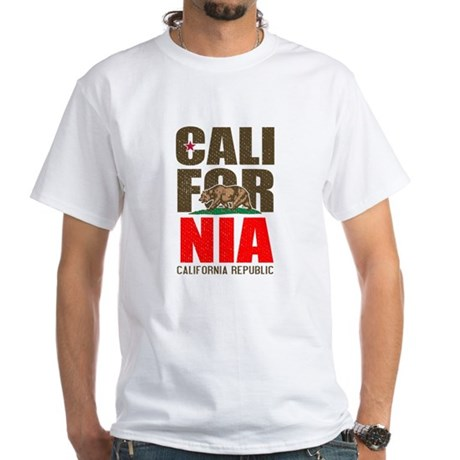 California Republic White T-Shirt