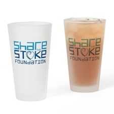 Share the Stoke Logo Drinking Glass